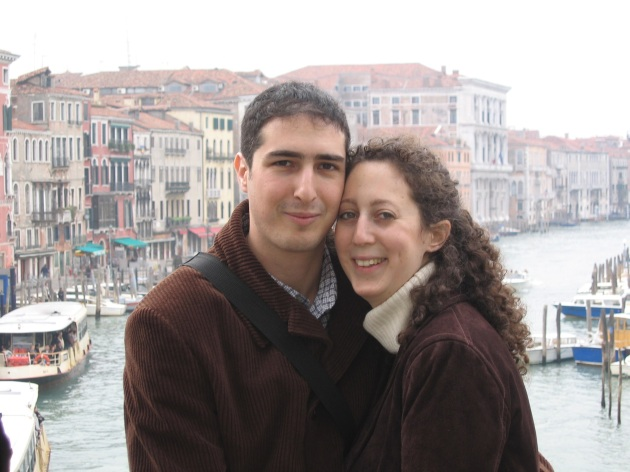 The day after our engagement in Venice, 23rd November 2003